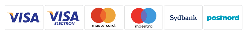 Logos of credit card providers Visa, Visa Electron, Mastercard and Maestro