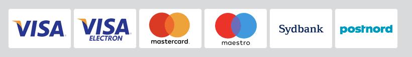Logos of credit card providers Visa, Visa Electron, Mastercard and Maestro