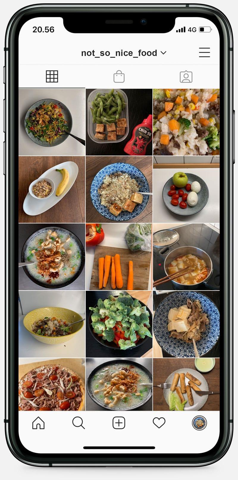 Instagram screenshot of food